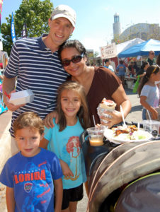 A local family enjoys lunch at Suwanee Fest, held annually in September.