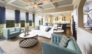 Highpointe at Vinings model living room
