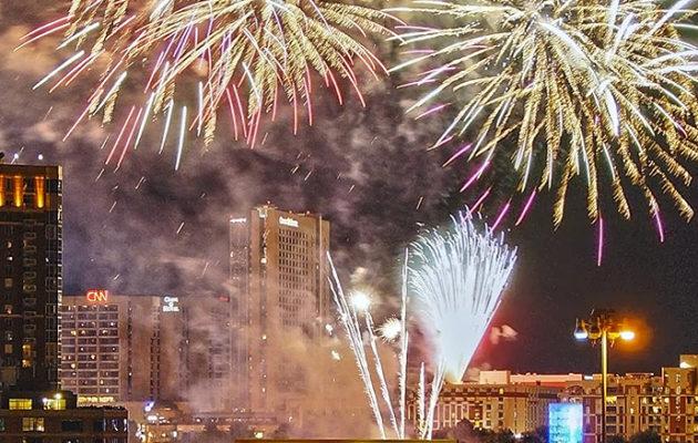 fireworks in Atlanta