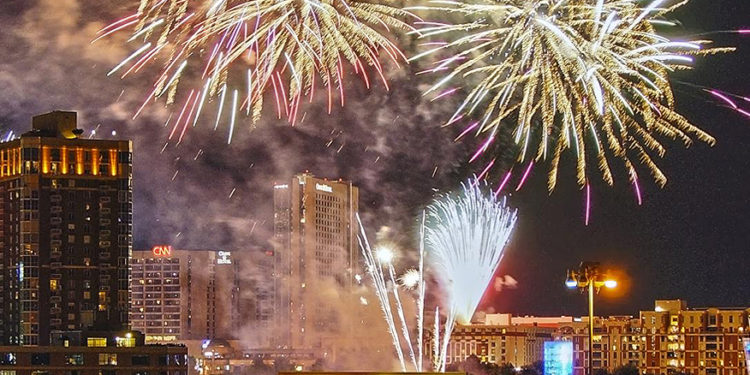 fireworks in Atlanta