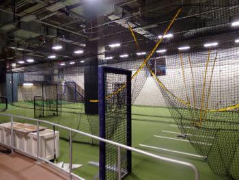 Indoor batting cages at SunTrust Park