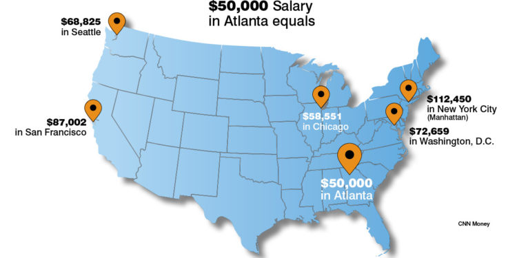 How Far Will Your Money Get You In Atlanta Compared To Other Cities
