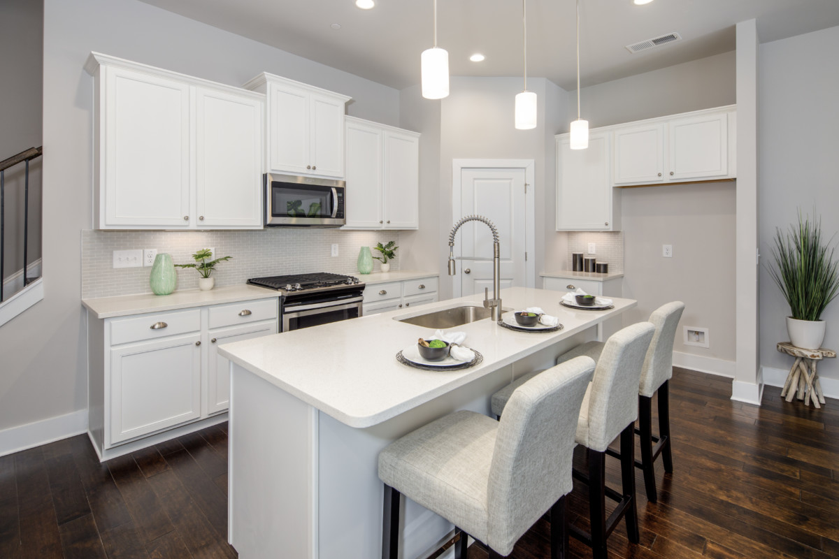 kitchen in a new townhome in north atlanta
