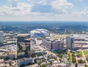 Downtown Atlanta with Mercedes-Benz Stadium